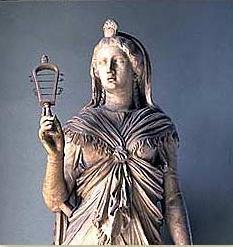 priesteres van Isis met sistrum